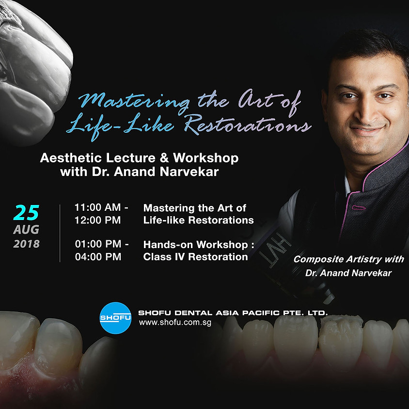 Aesthetic Lecture & Workshop with Dr. Anand Narvekar