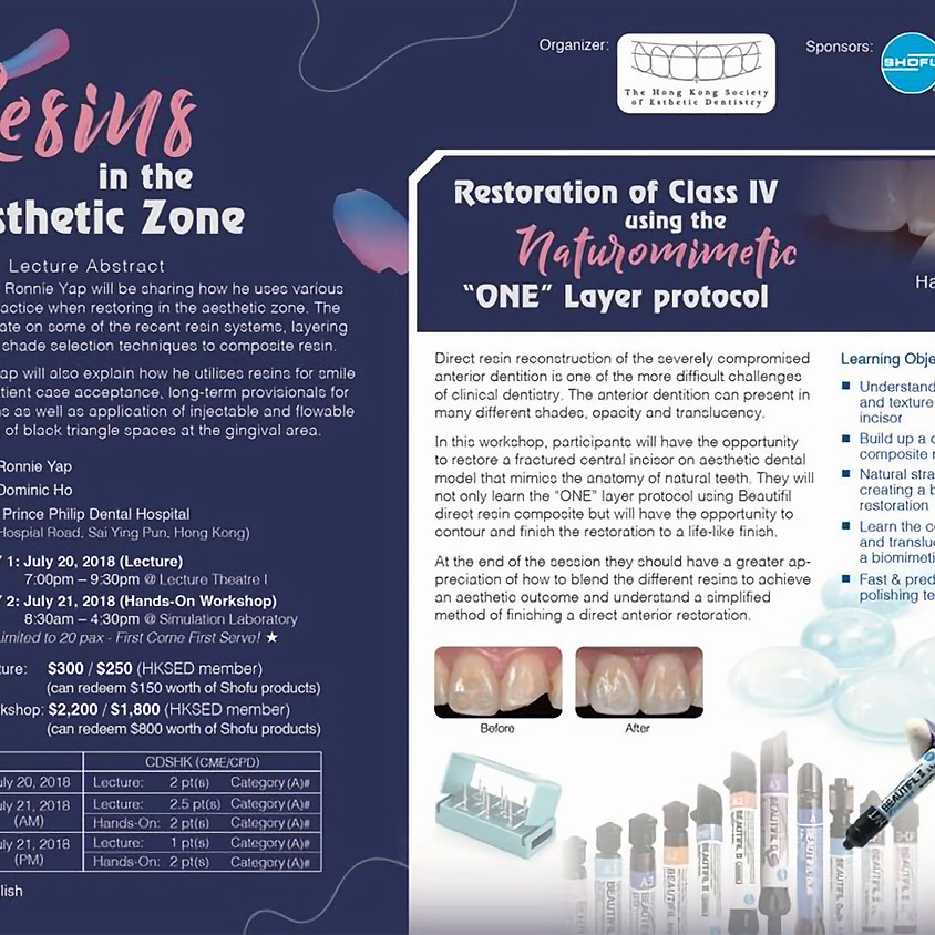 Resins in the Aesthetic Zone - Lecture