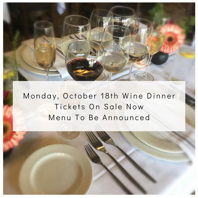 October - Chef's Dinner