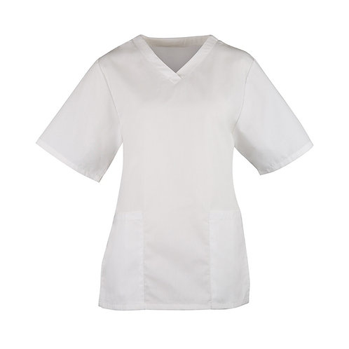 Ladies White Scrub Tunic