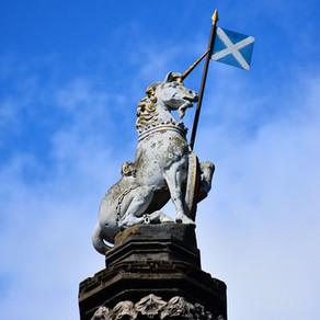 El unicornio como el animal nacional de Escocia