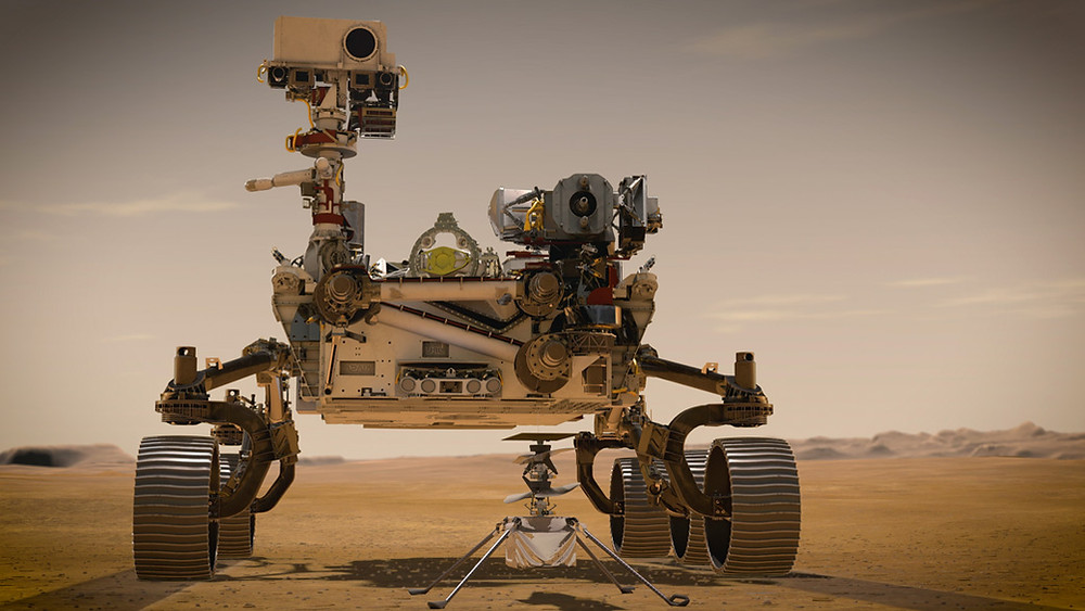 NASA's Mars Perseverance Rover and Ingenuity Helicopter