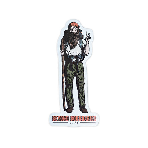 Hippie Man Sticker