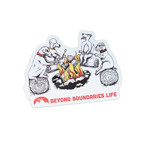Campfire Dogs Sticker