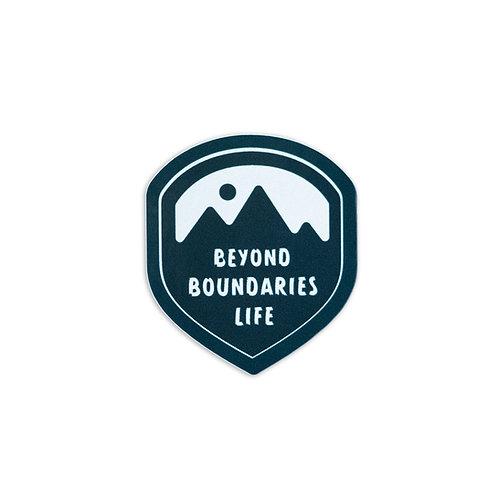 Beyond Boundaries Life Logo Sticker