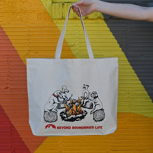 Campfire Dogs Tote Bag