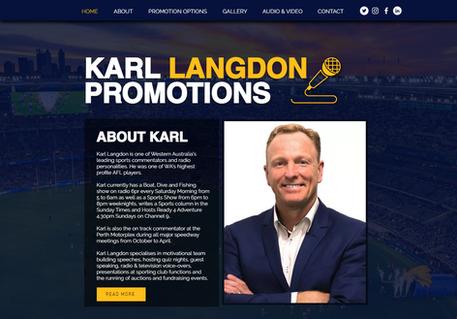 Karl Langdon Promotions Website Design.p