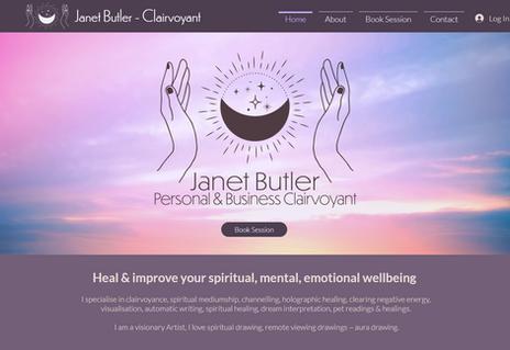 Janet Butler Clairvoyant Website design.