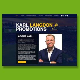 www.karllangdonpromotions.com.au - Wix website design