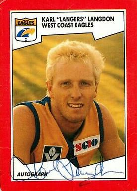 ✺Signed✺-1989-WEST-COAST-EAGLES-AFL-Card