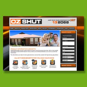 Oz Shut - Wix website design