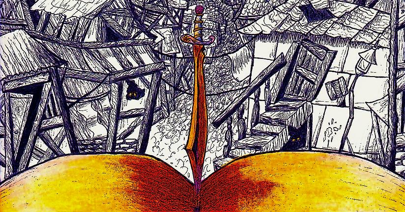 Quint's Sword in Book