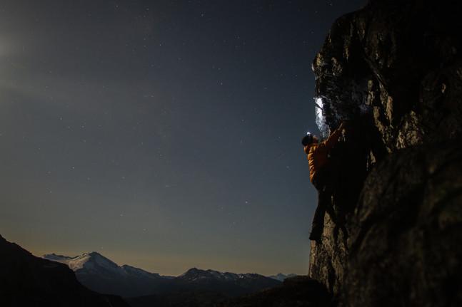 Moonlit climbs
