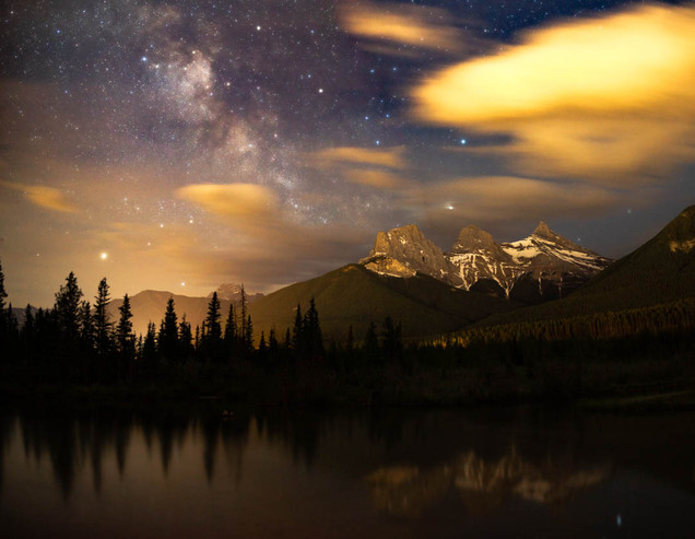 Star Studded Sky Over the Three Sisters