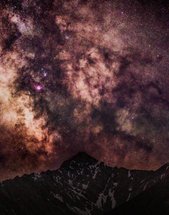 Galactic Core Over Sundance Range