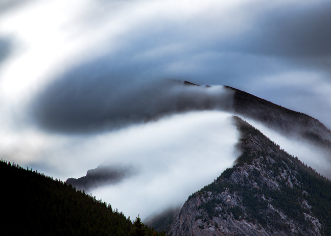 Mount Rundle Cloud Inversion
