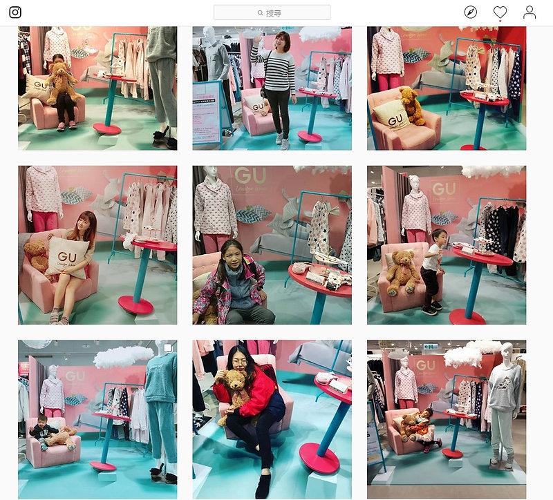 簧十廣告_廣告設計_通路美學_GU_Lounge Wear_居家服_活動陳列_視覺錯位_視覺設計