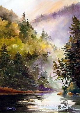 2020_08_31 Lake Opeongo Morning 15 x 20.