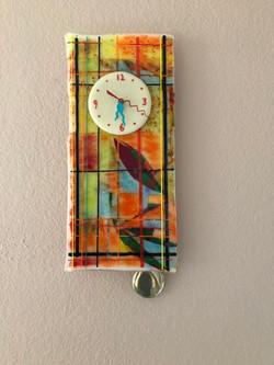 Tiffany Pendulum Glass Wall Clock