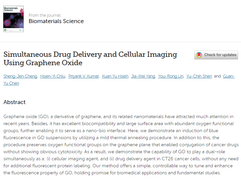 Our paper has been accepted to Biomaterials Science