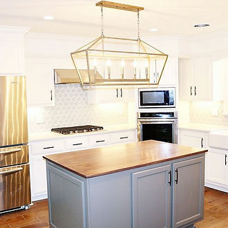 We love how our Modern Farm House Kitche
