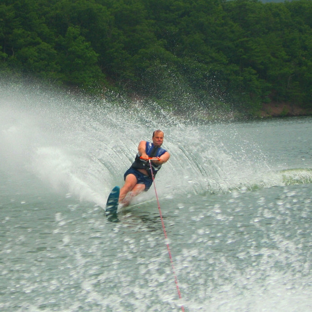 Water skiier on the lake