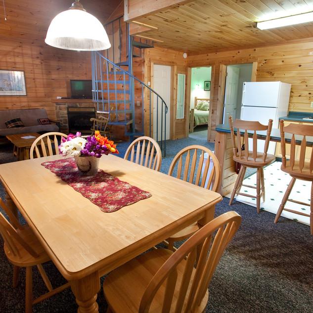 Cabin 1 & 2 Kitchen Nook