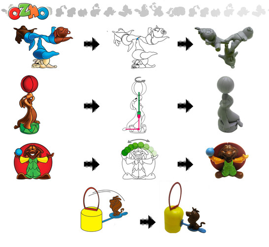 oacrobatic toys in surprise eggs