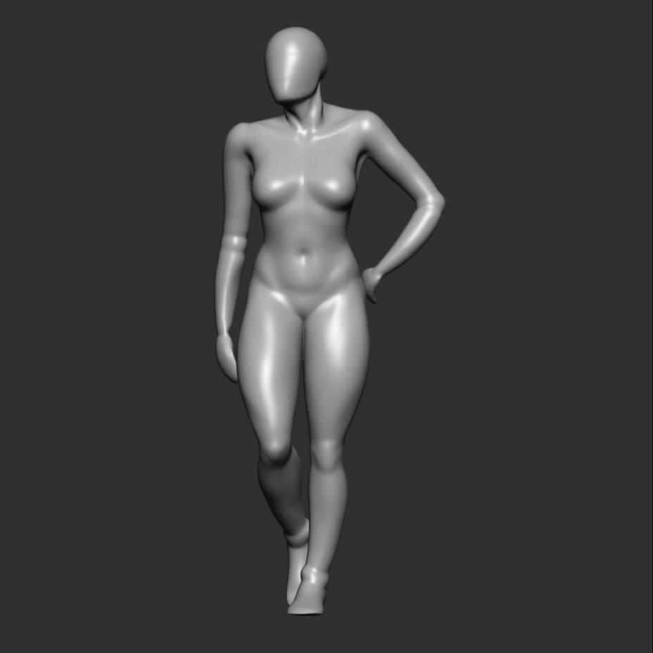 Woman 3D Sketch