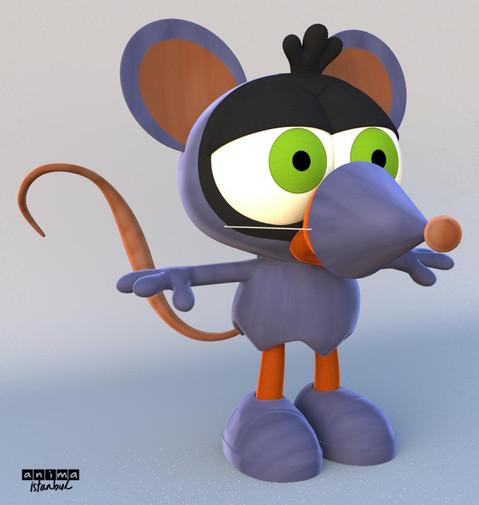 Zeytin in Mice costume