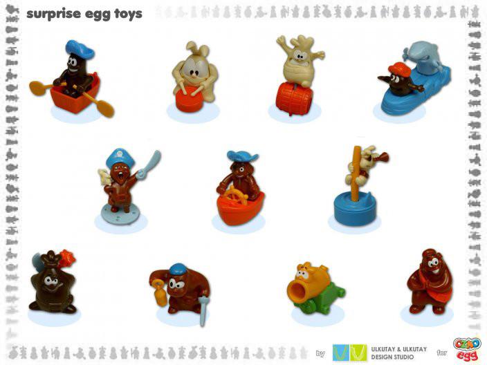 'chocolate pirate' surprise toys