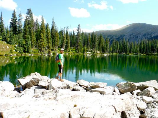Andy enjoying Horseshoe Lake 8.17.16