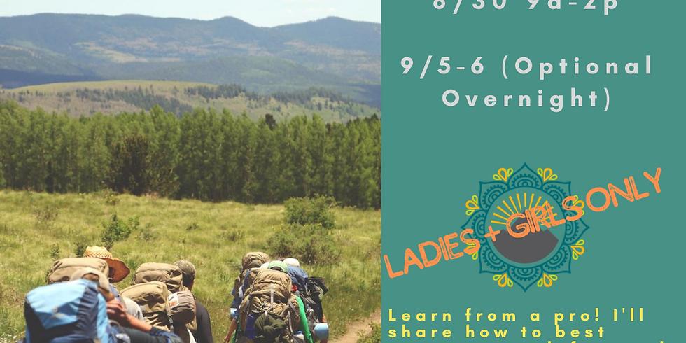 Backpacking Basics Class + Overnight Trek