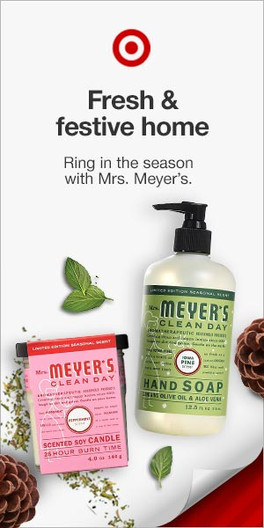 Target Mrs. Meyers Holiday Display Banner