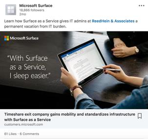 Microsoft Surface for Business LinkedIn