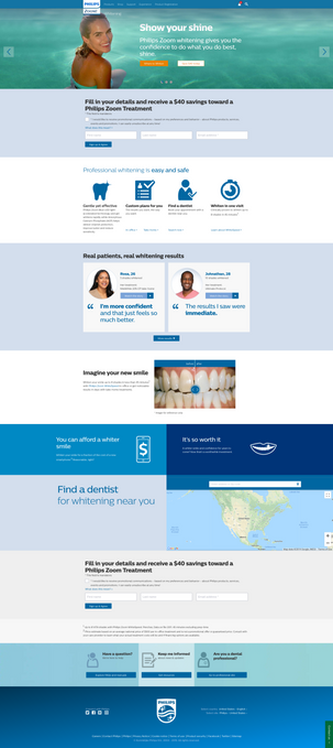 Consumer Philips Zoom Landing Page
