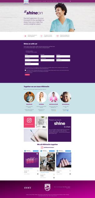#ShineOn Campaign Landing Page