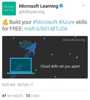Microsoft Learning Twitter