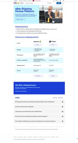 eBay Shipping Partner Platform
