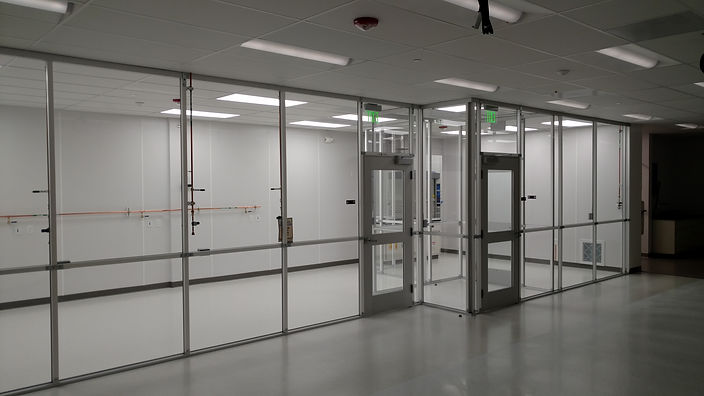 Custom clearwall aluminum extrusion cleanroom, Sunnyvale, Medical Device