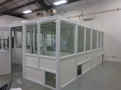 Steel frame cleanroom, Eugene OR, Biotech (Modulus Cleanrooms California)