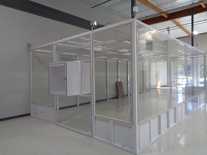 Steel frame stretchwall cleanroom, American Canyon CA, Biotech (Modulus Cleanrooms)