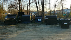 trash dumpster front end cans