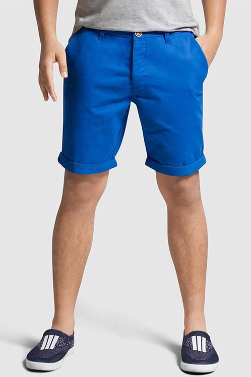 Men's blue chino short