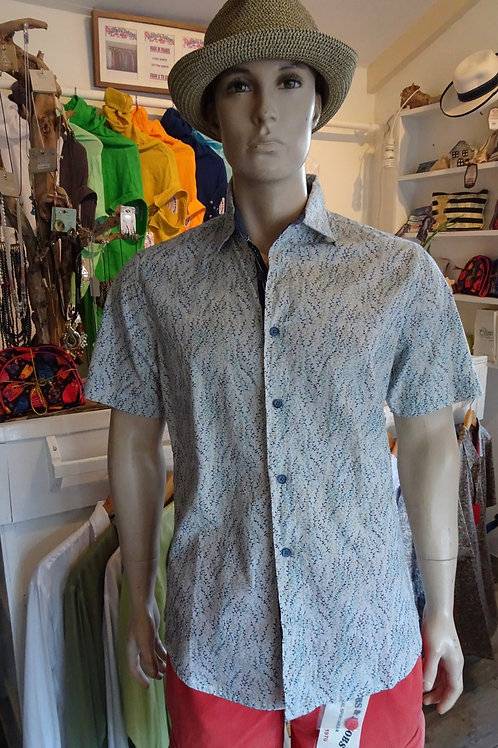 Cotton men shirt with leaves