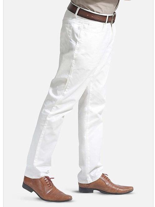 Men's white chino pants