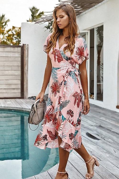 Light wrap midi dress
