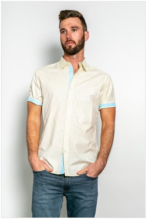 Short sleeve shirt with dots