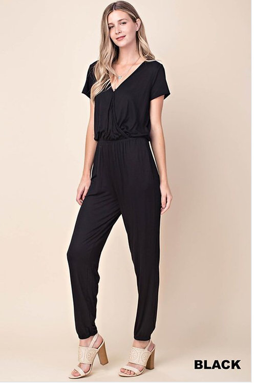 Short sleeves jumpsuit