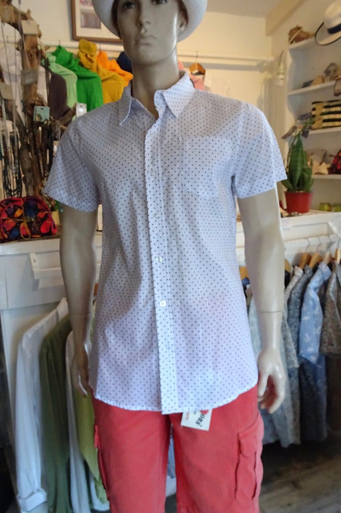 Men shirt white with dots